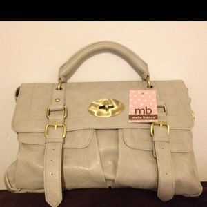 New Melie Bianco Bone crossbody satchel bag purse