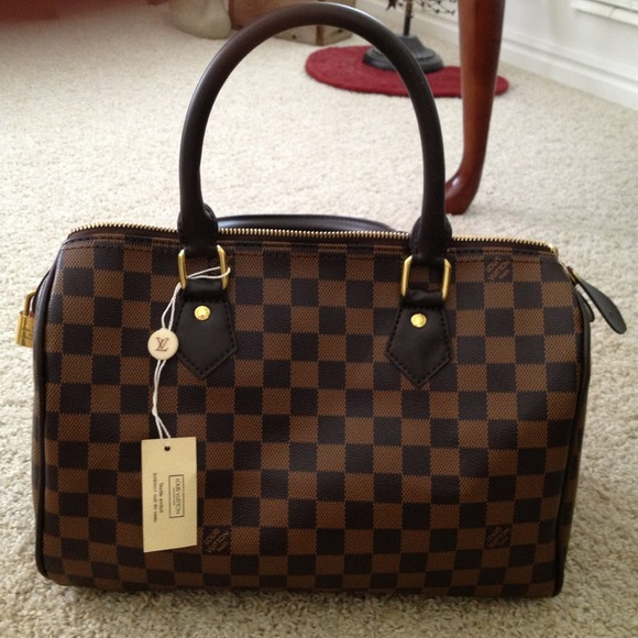 2fecd8254a05 HOLD Designer inspired Damier Speedy 30