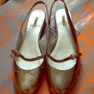 FOR SALE Authentic Miu Miu Silver flat shoes