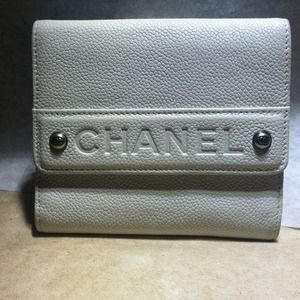 Authentic Chanel white wallet