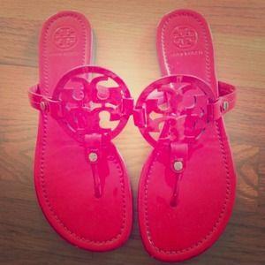 tory burch hot pink miller sandal