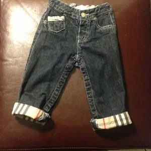 % Authentic BURBERRY Jeans - Size 12m. Unisex