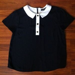 Collection Black Blouse With White Collar Pictures - Reikian