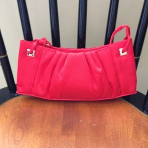 Small red silky satiny purse/clutch - so cute!