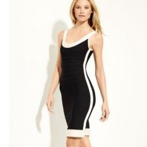 Herve Leger Dresses & Skirts - Herve Leger Gwyneth Contrast Bandage Dress Med NWT