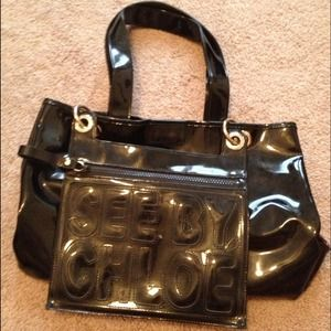 Shiny Black See by Chloe Bag