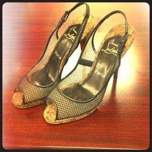 replica shoes men - Christian Louboutin peep toe on Poshmark