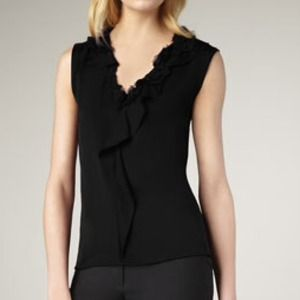 Elie Tahari Black Sleeveless Sonja Blouse M NWT