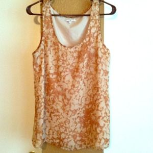 Tops - Gap brown/nude shimmer shirt!