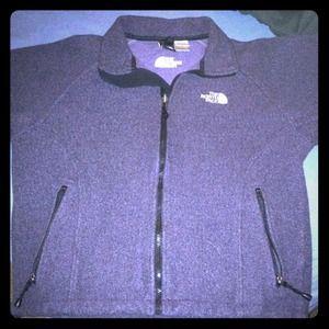 Purple North Face fleece jacket