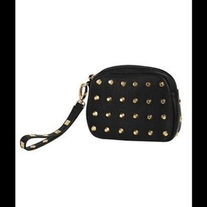 Clutches & Wallets - Studded wristlet