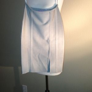 Herve Leger light grey bodycon skirt xs