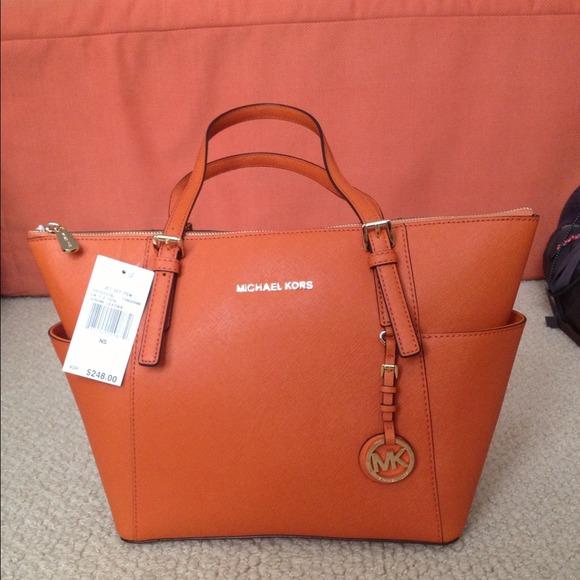 e4e933bb7bc8 Michael Kors Bags   Sold100 Authentic Tangerine Tote   Poshmark