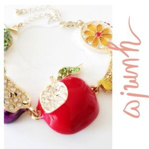 sparkling colorful fruit bracelet