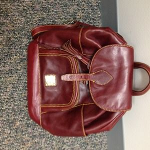 Dooney & bourke leather backpack