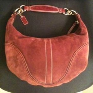 💯% Authentic Coach suede hobo shoulder bag