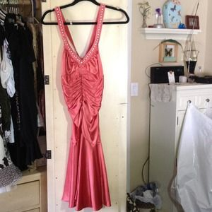 Betsy Johnson peach dress