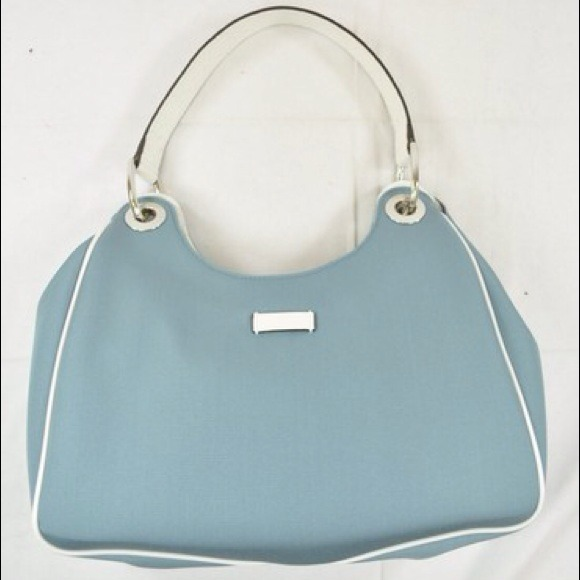 9482d42ee56f1 Gucci Handbags - GUCCI SHOULDER BAG LIGHT BLUE WHITE LEATHER TRIM