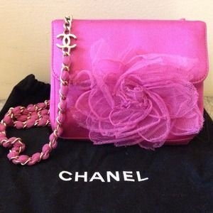  Chanel Pink Camellia Mini Bag Authentic 