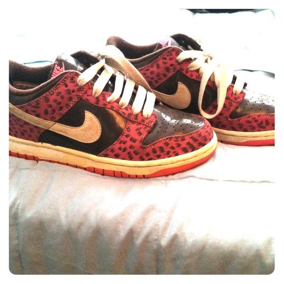 38 nike shoes pink cheetah nike sneakers size 6 5