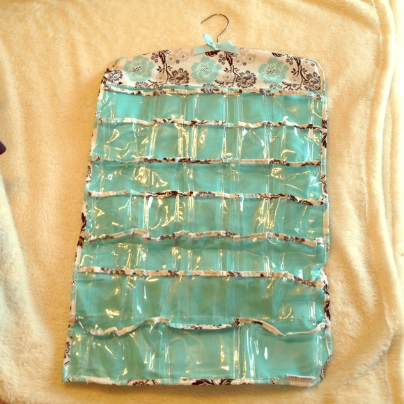 Laura Ashley Accessories Blue Patterned Hanging Jewelry Organizer