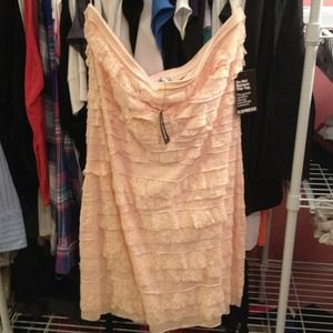 NWT express strapless dress