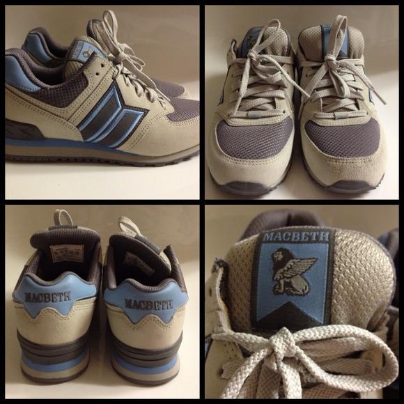 5865d15d94 Macbeth Shoes - Macbeth (Blink-182) Blue Gray Sneakers Shoes