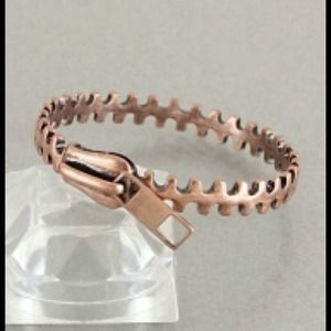 Bronze Zipper Bangle