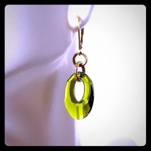 Lime Green Crystal Earring