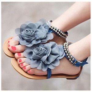 Shoes - *Sold* Flower sandals