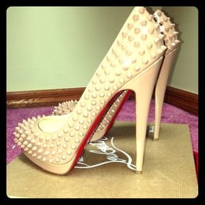 Christian Louboutin Nude Spikes!!!