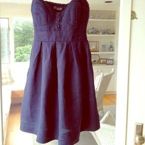 Navy Blue F21 Linen Dress