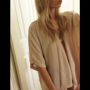 Forever 21 Outerwear - Nude Kimono Cover Up