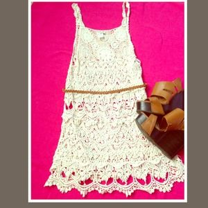 Tops - O/S Crochet Dress/Shirt NWOT *Only ONE left!*