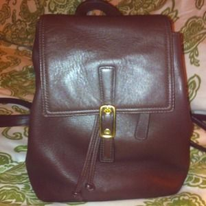 Hold Leather back pack!Brown  Authentic vintage!