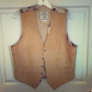 SOLD Hermes men's lambskin and silk vest size L/XL