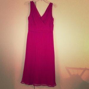 JCrew Berry Colored Bridesmaid Dress