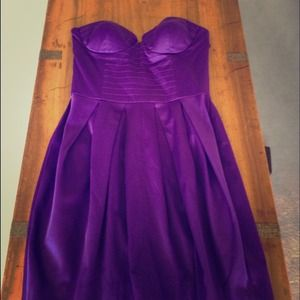 Purple F21 Molded Cup Strapless Dress