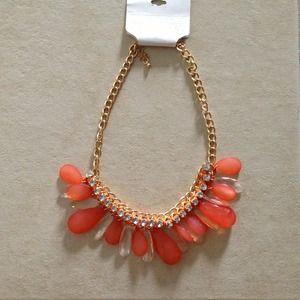 Jewelry - NWT Orange Drop Rhinestone Necklace