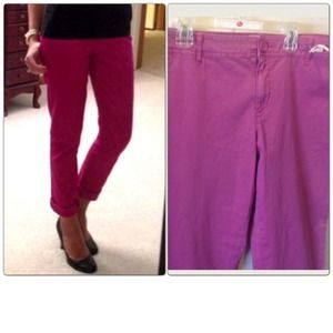 New pink ankle pants