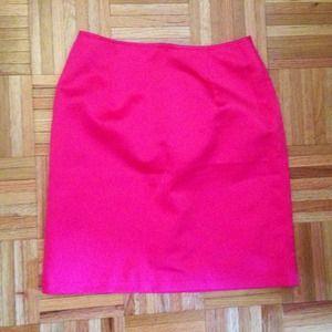 Todd Oldham Pink Satin Pencil Skirt