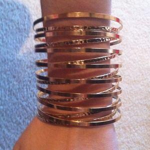 Gold tone bangle-like bracelet