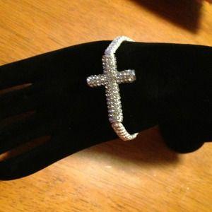 Jewelry - Shamballa cross bracelet!!
