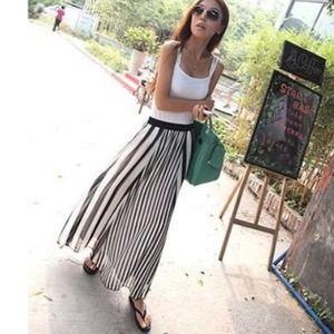 Dresses & Skirts - 💥SOLD💥 Striped Chic Long Chiffon Skirt