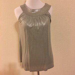 Silver Express shirt sequin detail Size XS