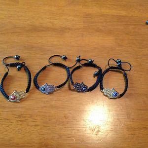 Jewelry - Hamsa shamballa bracelet you choose 1