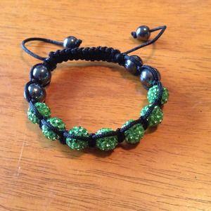 Jewelry - Clay crystal shamballa bracelet