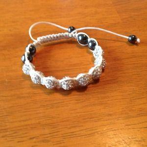 Jewelry - White shamballa crystal bracelet