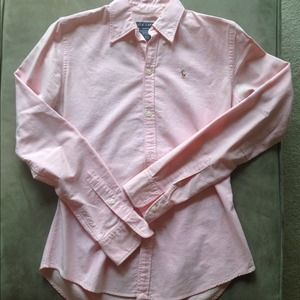 Pink Ralph Lauren Slim Fit Classic Button-Down
