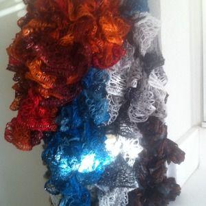 Great Xmas gift Ribbon/Ruffle scarfs handmade